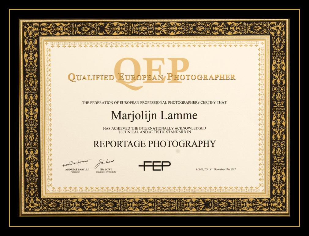 Qualified European Photographer | Marjolijn Lamme Fotografie