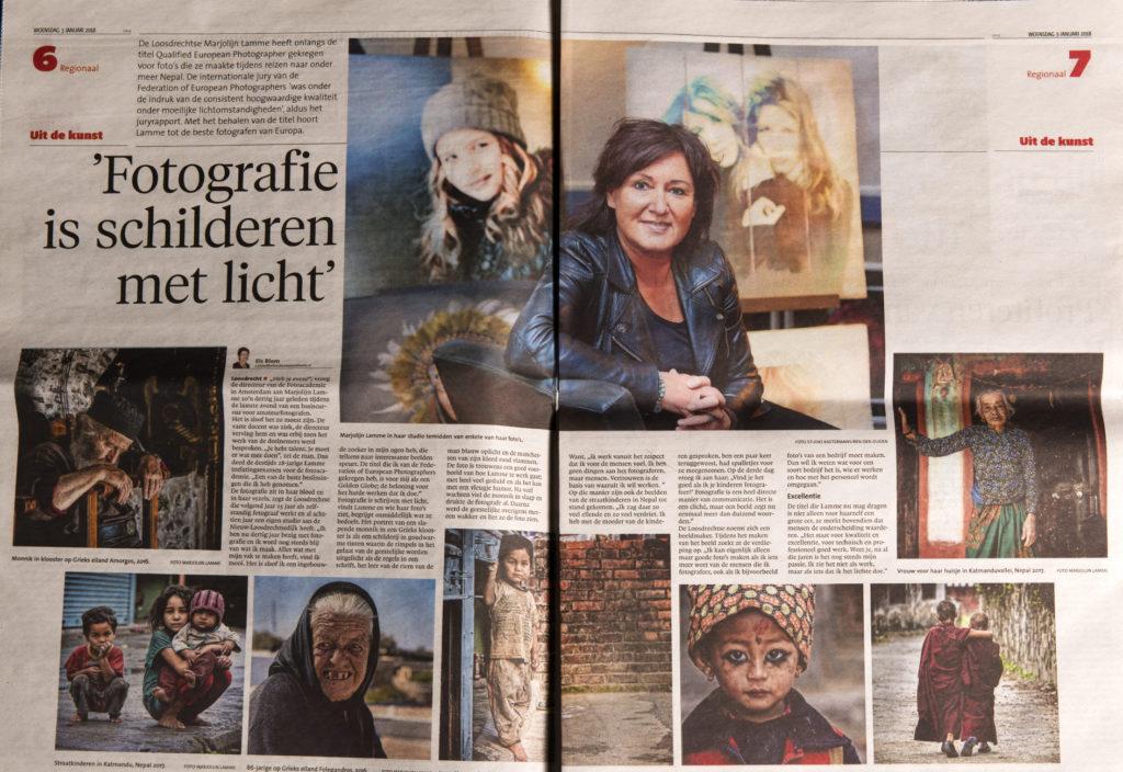 In de media | Marjolijn Lamme Fotografie