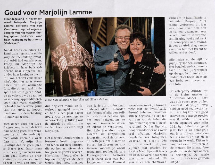 In de media   Marjolijn Lamme Fotografie