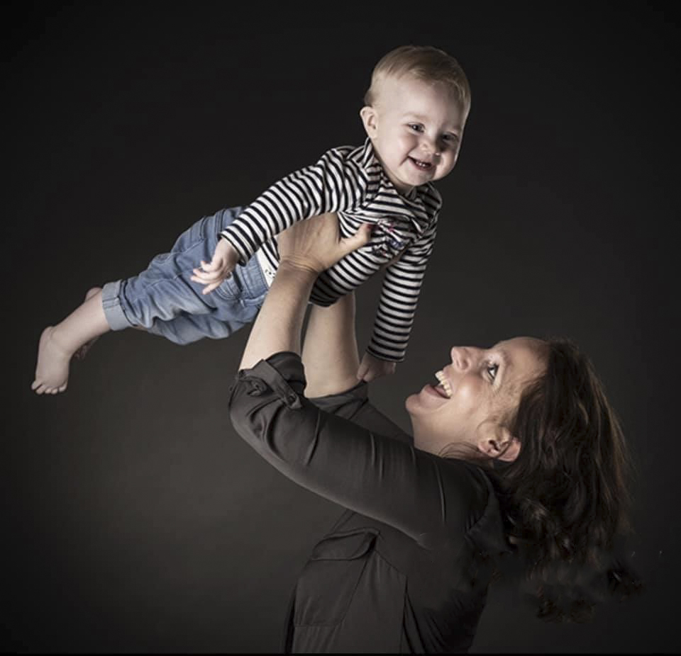Portret moeder en zoon